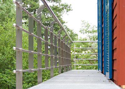 Stahlwangentreppe zum Balkon